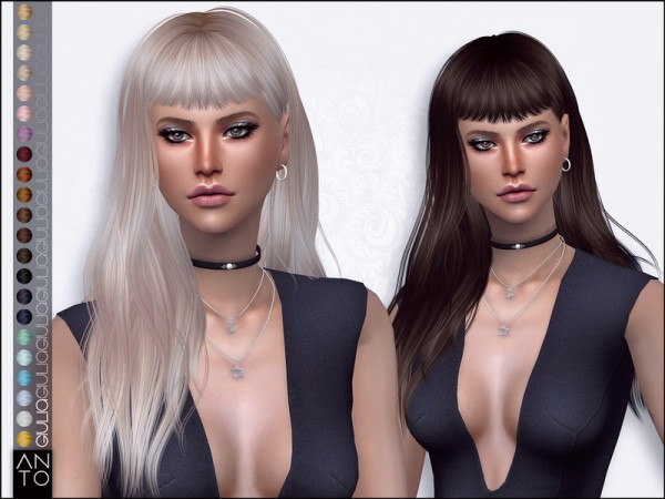 The Sims Resource: Giulia hair by Anto for Sims 4