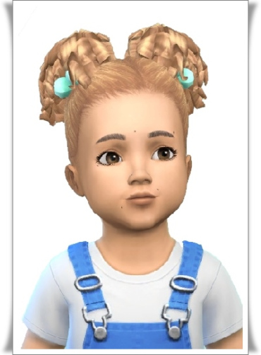 Birksches sims blog: Baby's Curly Pigs hair for Sims 4