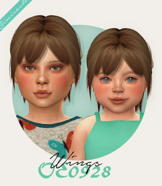 Simiracle: Wings OE0928 hair retextured for Sims 4