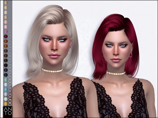 The Sims Resource: Diana hair by Anto for Sims 4