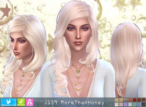 NewSea: J159 More Than Honey hair for Sims 4