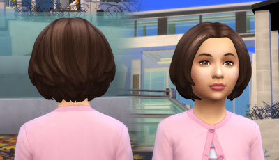 Mystufforigin: Brooke Hair for Girls for Sims 4