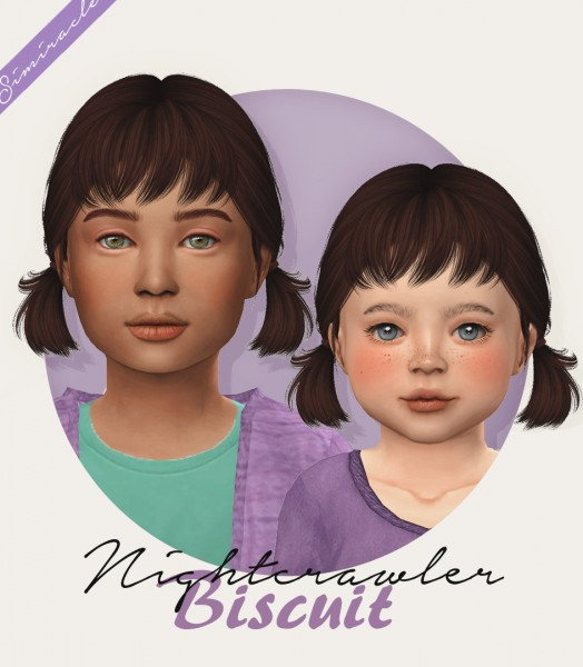 Simiracle: Nightcrawler`s Biscuit hair retextured for Sims 4