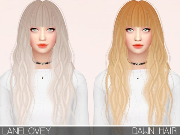 The Sims Resource: Antos Dawn Hair retextured by chansunglover for Sims 4