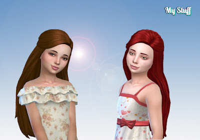 Mystufforigin: Twist Hair for Girls for Sims 4