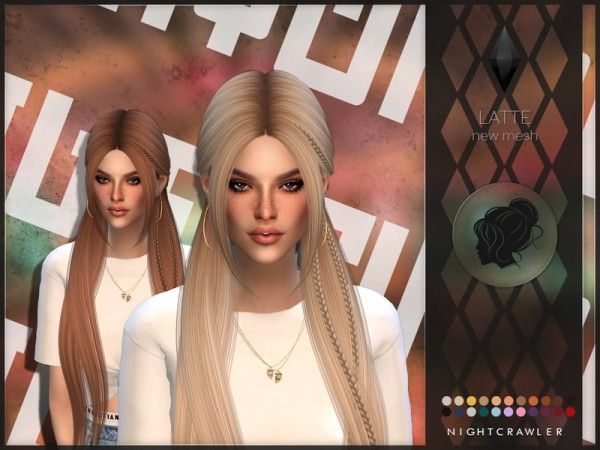 The Sims Resource: Latte hair by Nightcrawler Sims for Sims 4