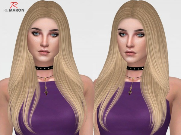 The Sims Resource: Nightcrawler`s Breeze Hair Retextured by Remaron for Sims 4