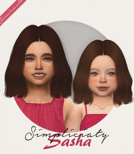 Simiracle: Simpliciaty`s Sasha hair retextured for Sims 4