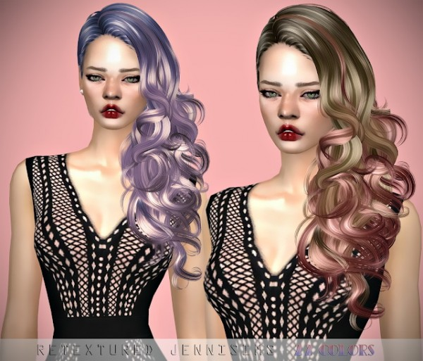 Jenni Sims: Newsea`s Bitter Sweet Hair retextures for Sims 4
