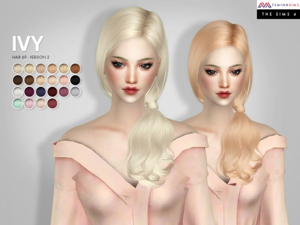 The Sims Resource: IVY Hair 69   Version 2 by TsminhSims for Sims 4