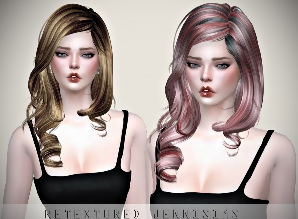 Jenni Sims: Newsea`s MoreThan Honey Hair retextured for Sims 4