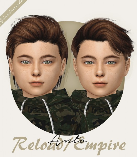 Simiracle: Anto`s Reload hair retextured   kids version for Sims 4
