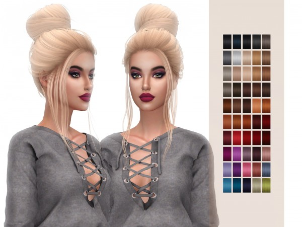 Frost Sims 4: Simpliciaty`s Grace hair retextured for Sims 4