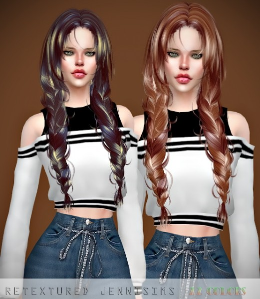 Jenni Sims: Newsea`s Cloris Hair retextured for Sims 4