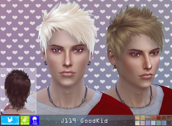 NewSea: J119 Good Kid hair for Sims 4