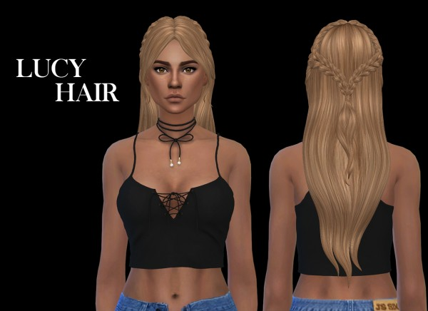 Leo 4 Sims: Luci hair recolored 2 for Sims 4