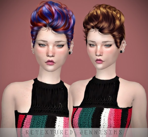Jenni Sims: Newsea`s Ultra Lover Hair retextured for Sims 4