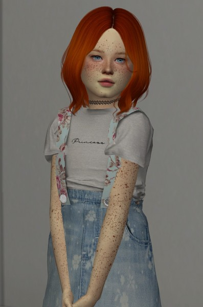 Coupure Electrique: Cazy`s Harper hair retextured   kids and toddler version for Sims 4