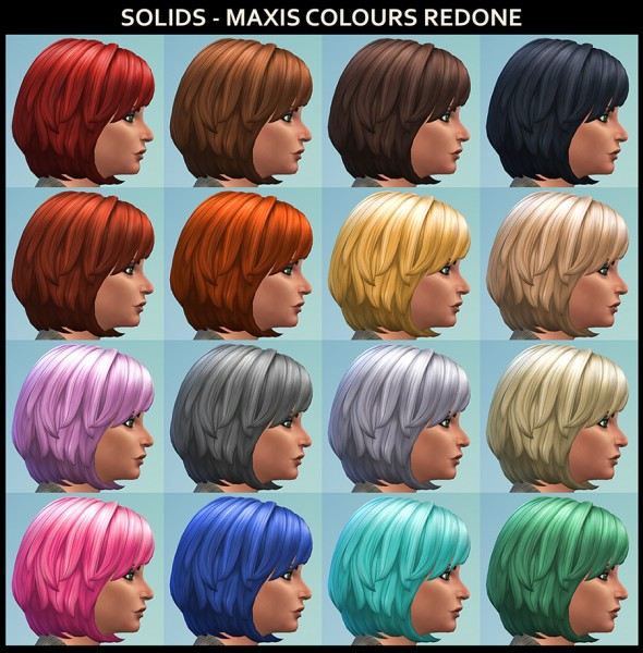 Mod The Sims: Kickin It Wavy Bob Hair Recolours by Simmiller for Sims 4
