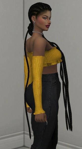 Coupure Electrique: Roasalina hair for Sims 4