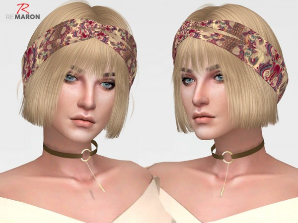 The Sims Resource: Malibu hair retextured by Remaron for Sims 4