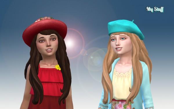Mystufforigin: Nicole Hair retexures V2 for Girls for Sims 4