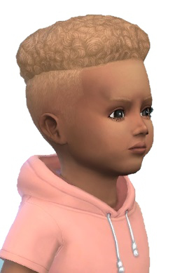 Birksches sims blog: Under Cut Hair Toddler for Sims 4