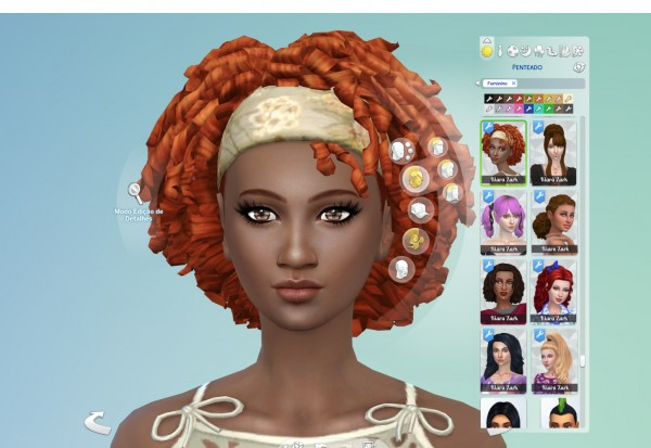 Mystufforigin: Tight Curls Bandana for Sims 4