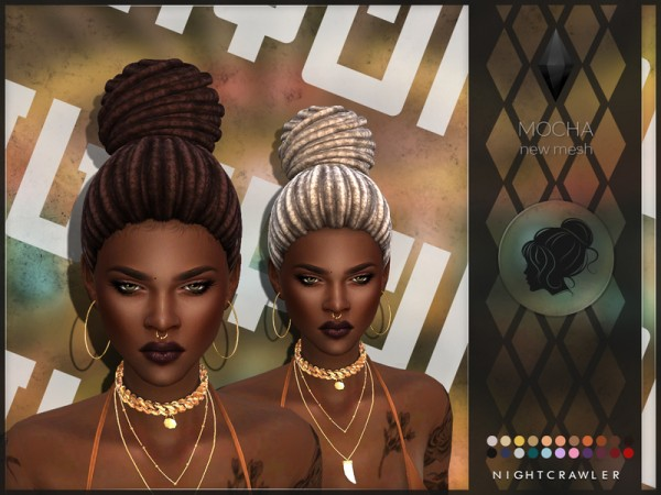 The Sims Resource: Mocha hair by Nightcrawler Sims for Sims 4