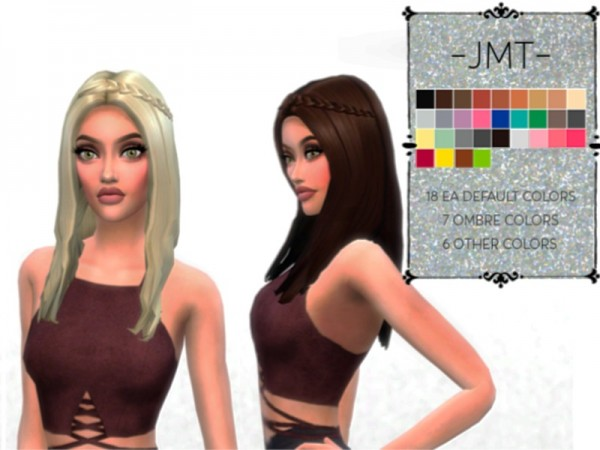 The Sims Resource: Hair N01retextured by JMT for Sims 4