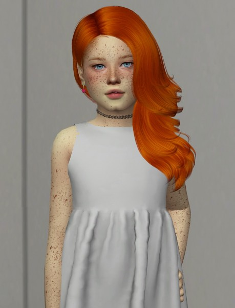 Coupure Electrique: Tsminh`s Twinkle Hair retextured   kids version for Sims 4