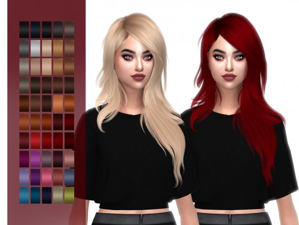 The Sims Resource: Hallow`s Serenity hair retextured for Sims 4