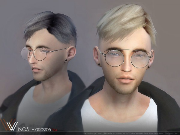 The Sims Resource: WINGS OE0908 hair for Sims 4
