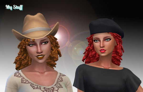 Mystufforigin: Long Tight Curls for Sims 4