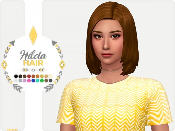 The Sims Resource: Hilda Hair by Nords for Sims 4