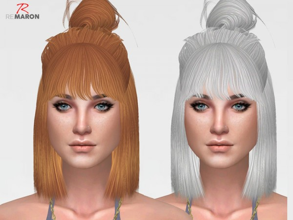 The Sims Resource: Onyx Hair Retextured by remaron for Sims 4