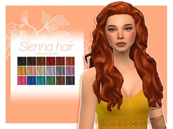 Merakisims: Sienna hair for Sims 4