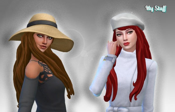 Mystufforigin: Nicole Hairstyle Version 2 for Sims 4