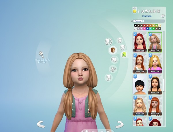 Mystufforigin: Candy Hair retextured for Toddlers for Sims 4