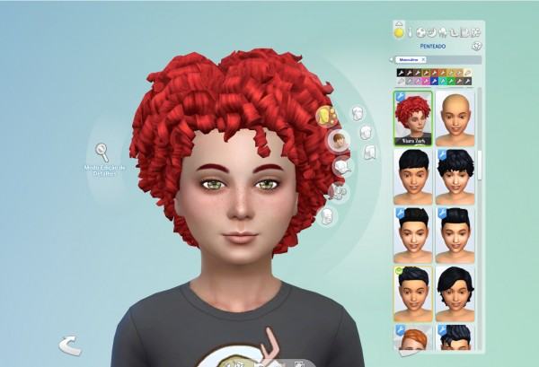 Mystufforigin: Tight Curls for Kids for Sims 4