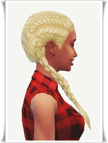 Birksches sims blog: Lady's Pull Back Long Pigs hair for Sims 4