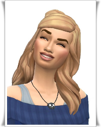 Birksches sims blog: Marlene's Messy Knot Hair for Sims 4