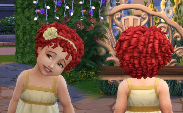 Mystufforigin: Flower Tight Curls for Sims 4