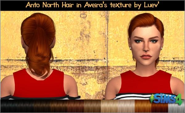 Mertiuza: Anto`s North hair retextured for Sims 4