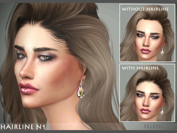 The Sims Resource: Hairline N1 by Seleng for Sims 4