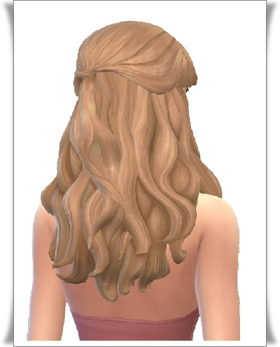 Birksches sims blog: Christin Half Up Hair for Sims 4