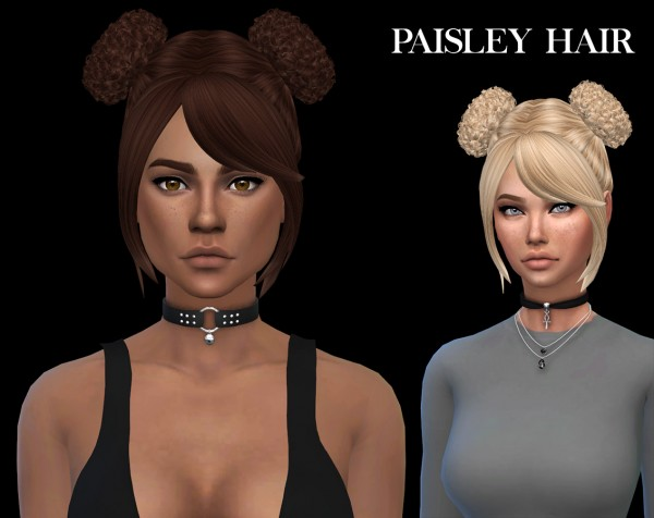 Leo 4 Sims: Paisley Hair 2 recolored for Sims 4