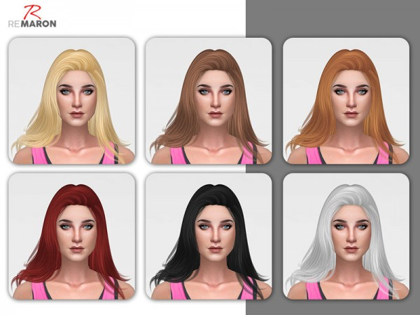 The Sims Resource: Nightcrawler`s Orchid Hair Retextured by Remaron for Sims 4