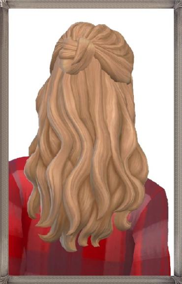 Birksches sims blog: Alma Hair for Sims 4