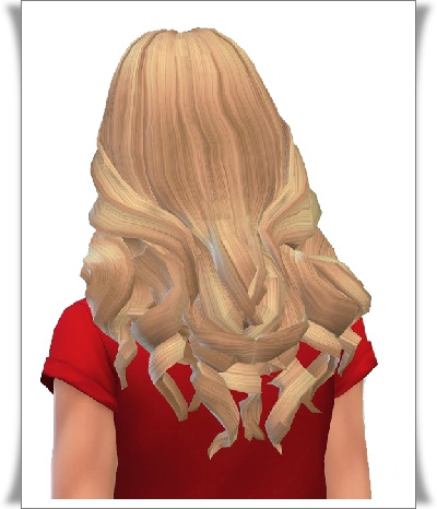Birksches sims blog: Wild Curls Hair for Sims 4